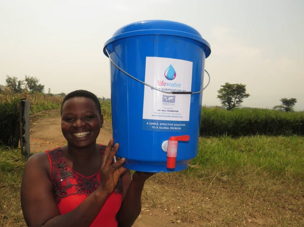 How do you feel when you get your own clean water for the first time?